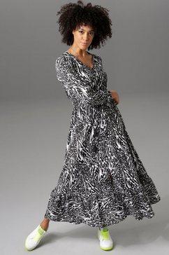 aniston casual maxi-jurk zwart