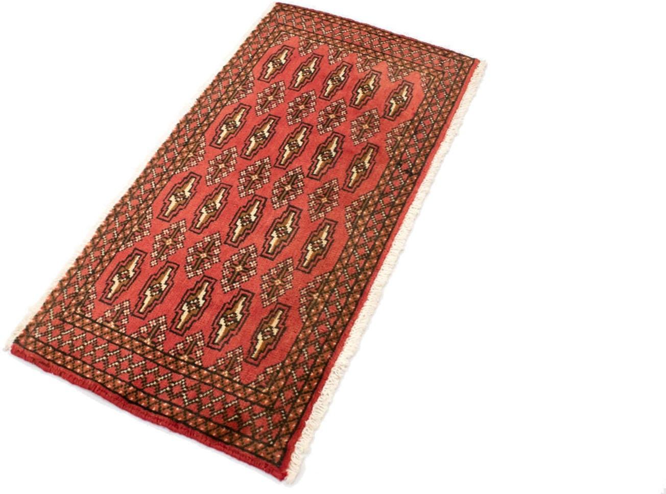 morgenland wollen kleed Turkaman vloerkleed met de hand geknoopt rood nu online bestellen
