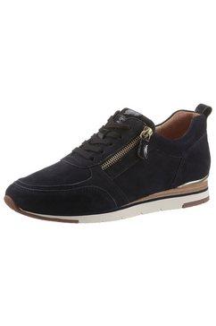 gabor sneakers met sleehak met contrastbeleg blauw