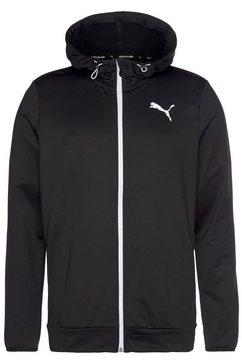 puma trainingsjack rtg fz hoodie zwart