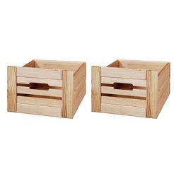 konifera set: bewaarbox »venezia landhuis«, set van 2, dennenhout, b - d - h: 26 x 29,5 x 19,5 cm beige