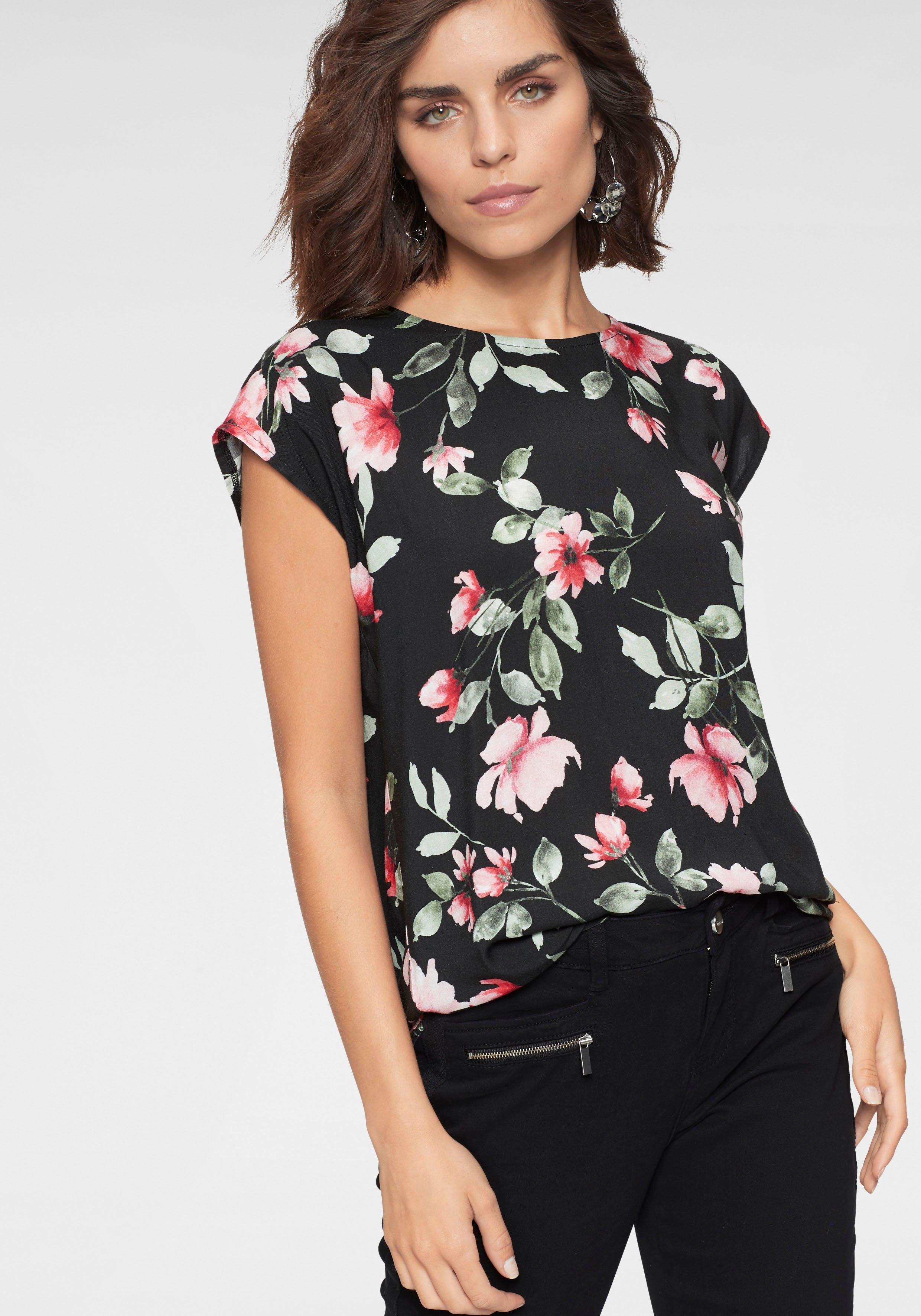 Tamaris shirtblouse met een afgeronde zoom online kopen op otto.nl