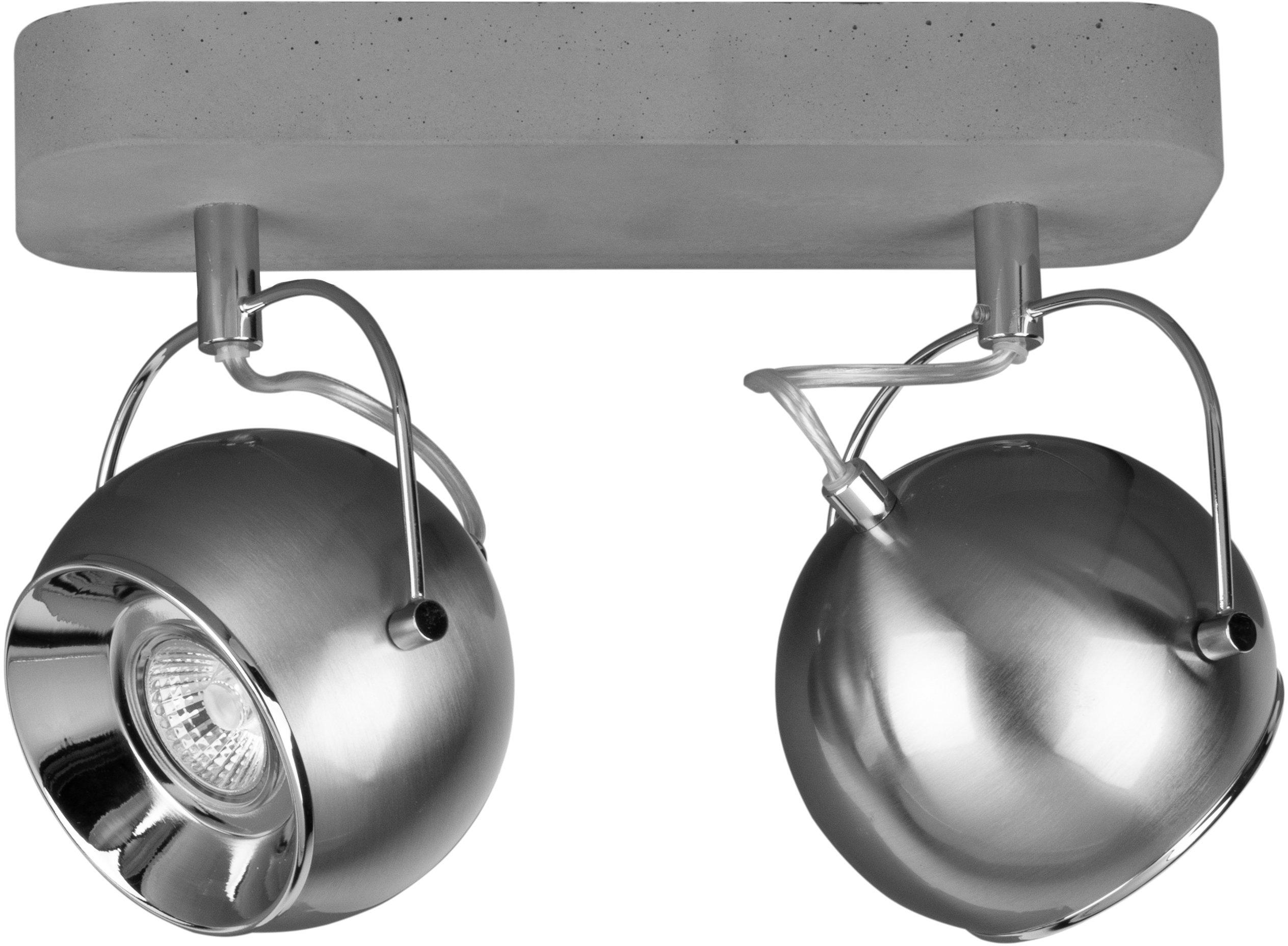 Op zoek naar een SPOT Light plafondlamp Bal CONCRETE Inclusief verwisselbare ledverlichting, beweegbare spotjes, basis van echt beton - met de hand gemaakt, natuurproduct - duurzaam, Made in Europe (1 stuk)? Koop online bij OTTO