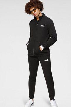puma joggingpak »amplified sweat suit tr« (set, 2 tlg.) zwart