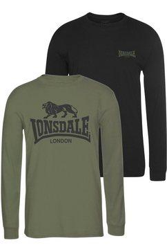 lonsdale shirt met lange mouwen »ayrshire« zwart