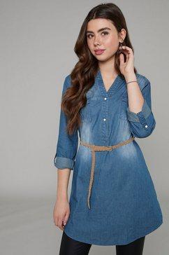 hailys jeansjurk patty inclusief ceintuur blauw