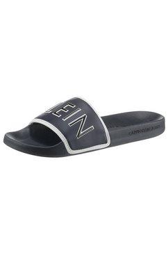 calvin klein slippers met groot logo-opschrift blauw
