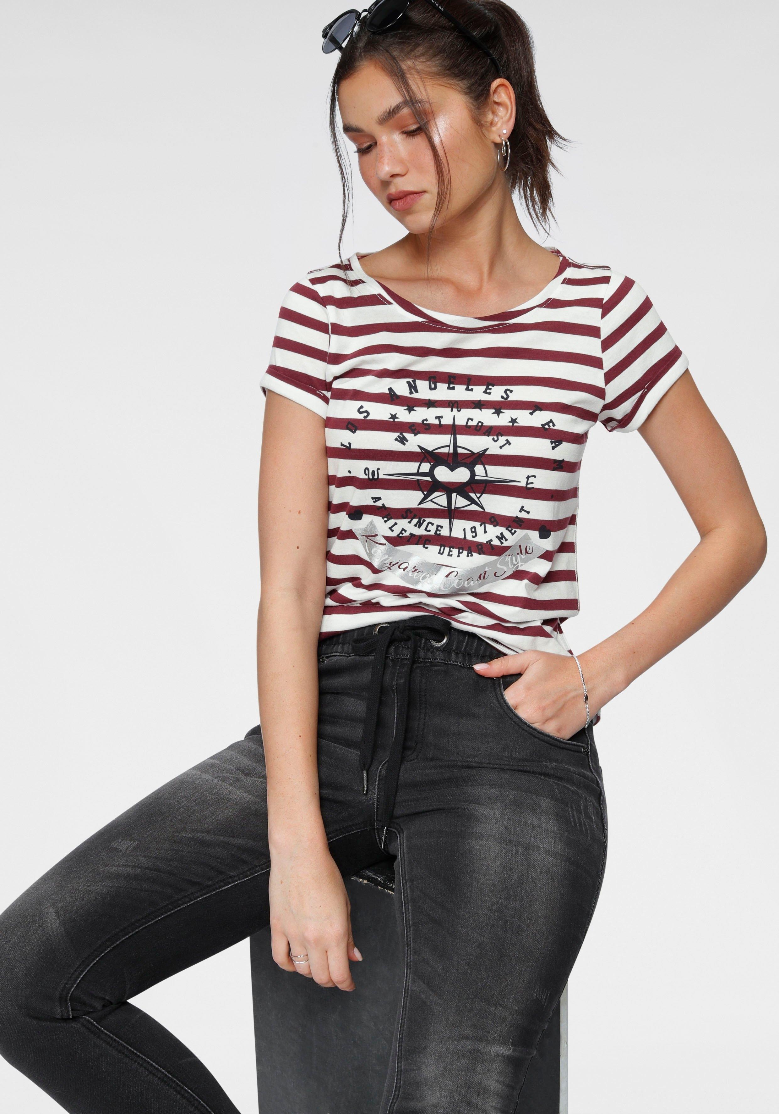 KangaROOS T-shirt met grote metallicprint voor goedkoop op otto.nl kopen