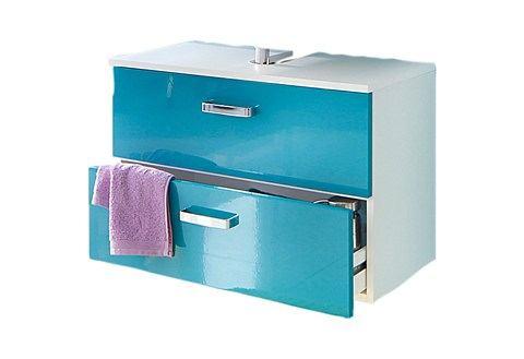 kast Ventura blauwe badkamer wastafelonderkast 76
