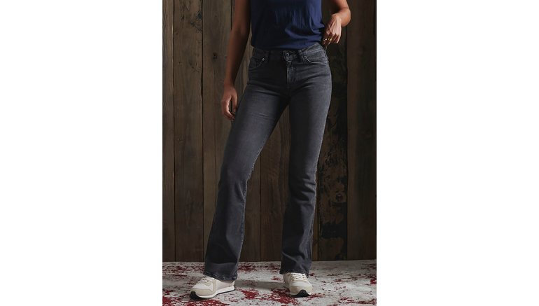 Superdry bootcut jeans MID RISE SLIM FLARE met matige taillehoogte