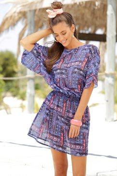 s.oliver red label beachwear tuniek met grafische print blauw