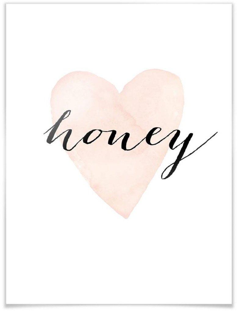 Wall-Art poster Honey Poster, artprint, wandposter (1 stuk) - gratis ruilen op otto.nl