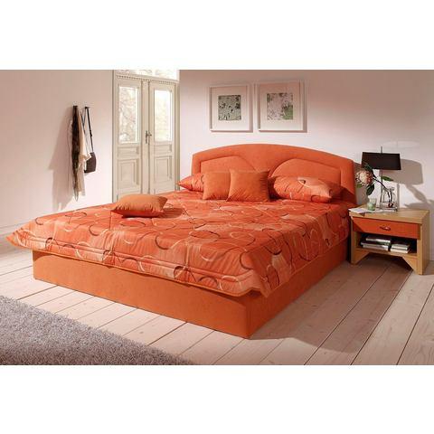 Bed 120x200 cm lighoogte 45 cm rood Westfalia Polsterbetten 888978