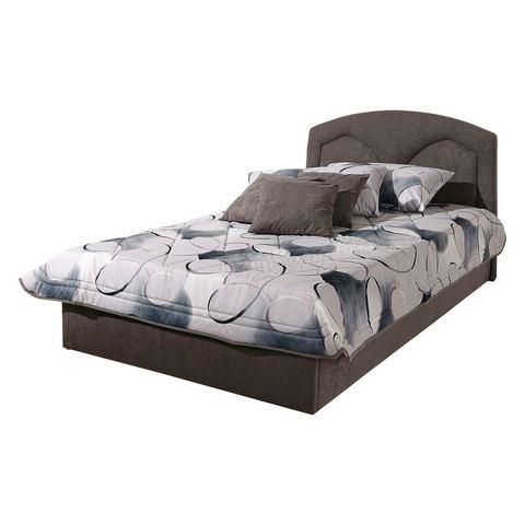 Bed 140x200 cm lighoogte 45 cm grijs Westfalia Polsterbetten 456082