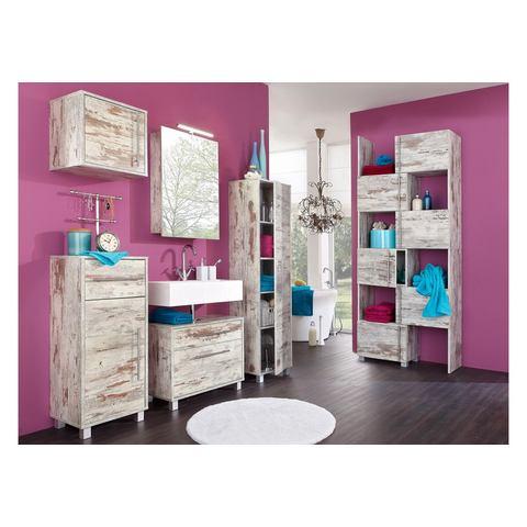 Wastafelonderkast 'Venezia' bruine badkamer onderkast 55