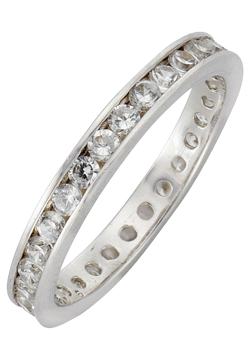 Firetti zilveren ring Memoire, chic, glanzend, gerodineerd, massief met zirkoon bij OTTO online kopen