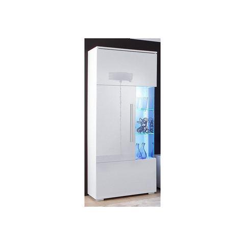 kast hoogte 140 cm wit vitrinekast 381