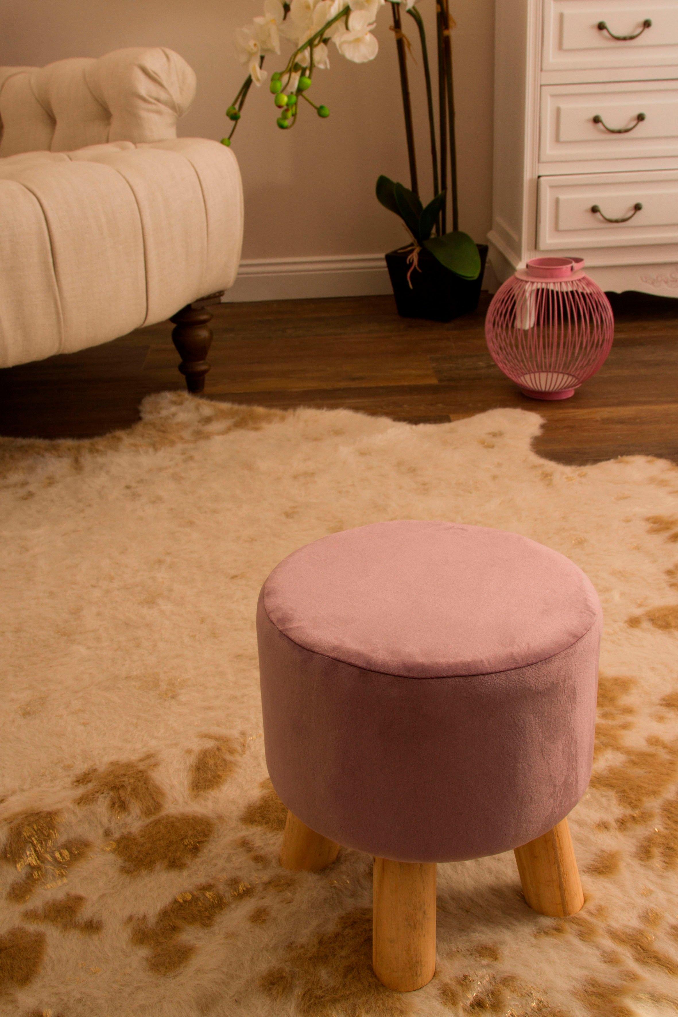 my Flair hocker met 4 poten in naturel/roze online kopen op otto.nl
