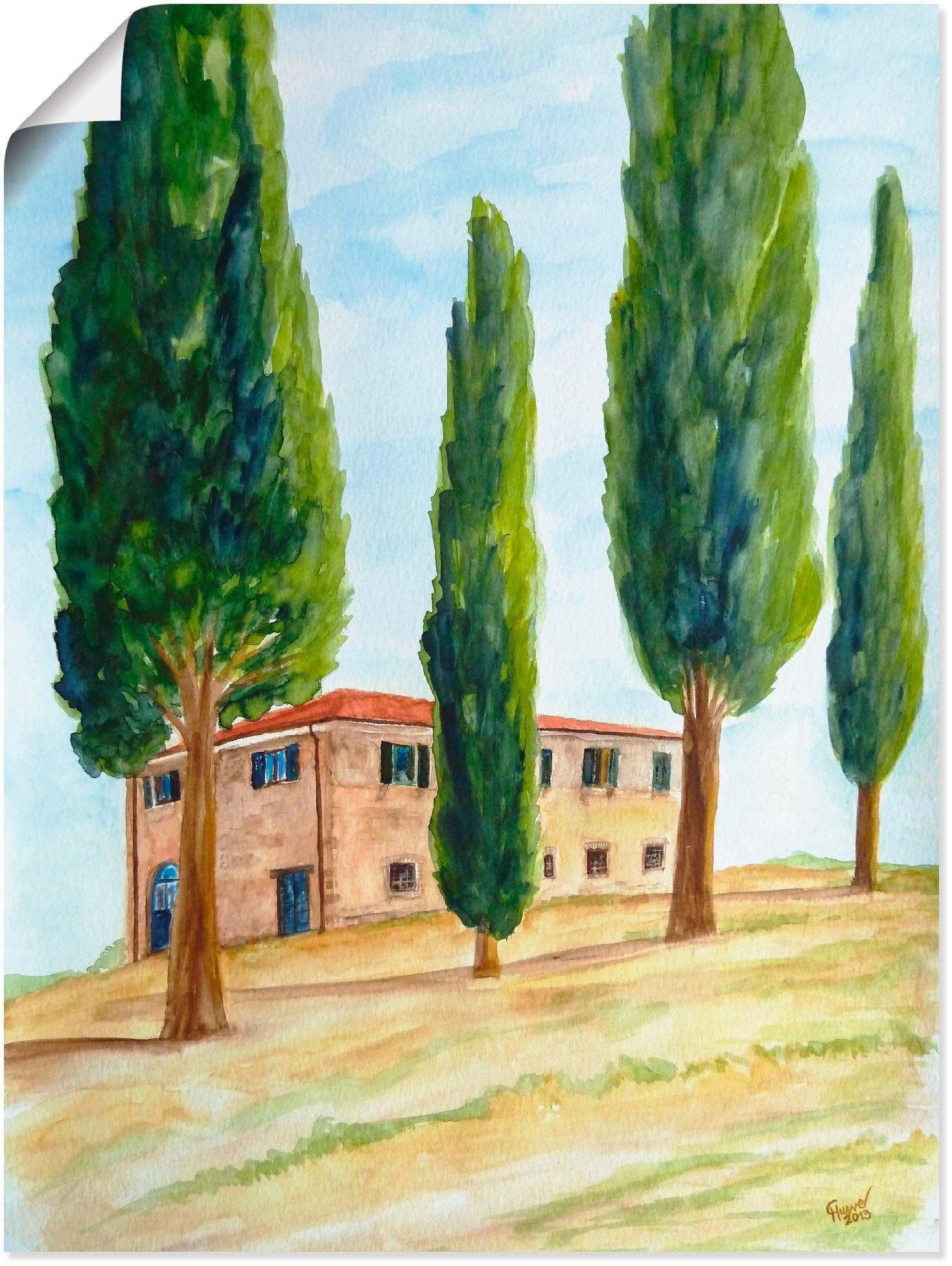 Artland artprint Landhuis in de Toscane in vele afmetingen & productsoorten -artprint op linnen, poster, muursticker / wandfolie ook geschikt voor de badkamer (1 stuk) in de webshop van OTTO kopen