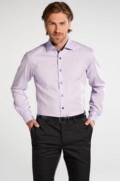 eterna lange arm hemd »modern fit vlakte« paars