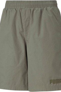 puma short ess+ woven shorts b groen