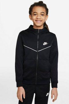 nike sportswear capuchonsweatvest big kids (boys) full-zip hoodie zwart
