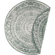 bougari vloerkleed »siruma«, bougari, rond, hoogte 5 mm, machinaal geweven beige