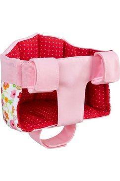 haba »blumenwiese« poppen fietsstoeltje roze
