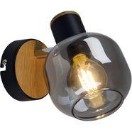 naeve wandlamp fumoso smoking glas (1 stuk) zwart