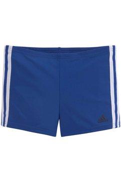 adidas performance zwemboxer met contrastkleurige strepen opzij blauw