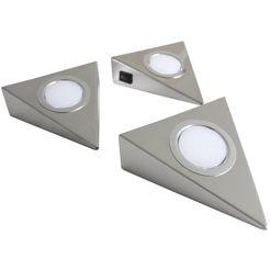 loevschall led-onderbouwverlichting emerald 3-kit (3 stuks) zilver