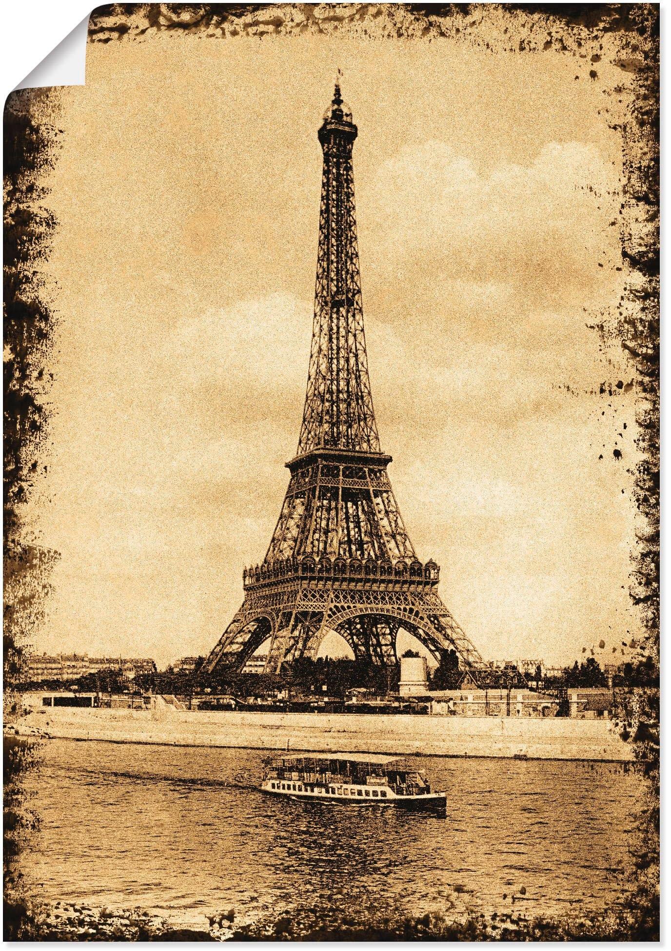 Artland artprint Parijs - Eiffeltoren Vintage in vele afmetingen & productsoorten -artprint op linnen, poster, muursticker / wandfolie ook geschikt voor de badkamer (1 stuk) in de webshop van OTTO kopen