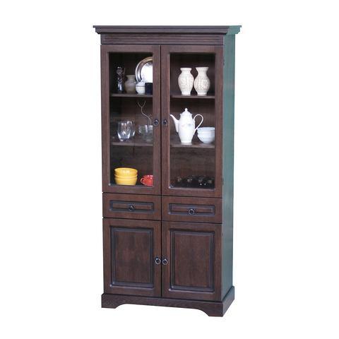 Kasten  vitrinekasten Vitrinekast 2-deurs in eikenkwaliteit 121268