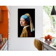 reinders! artprint op linnen giclee on canvas 70x118 johannes vermeer - girl with a pearl earring bruin