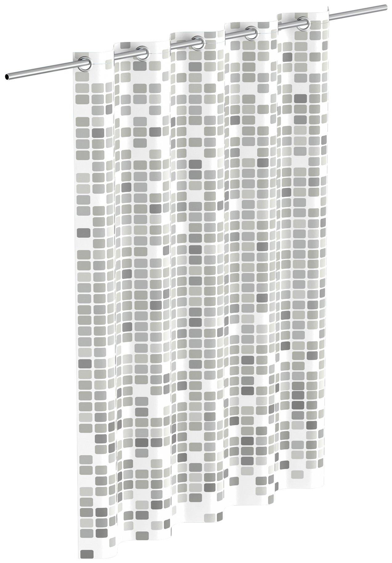 Eisl douchegordijn Mozaïek grijs mozaïek-design bestellen: 30 dagen bedenktijd