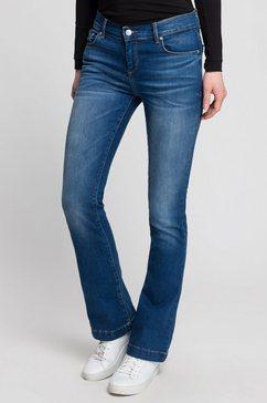 ltb bootcut jeans fallon met wijd uitlopende pijpen blauw