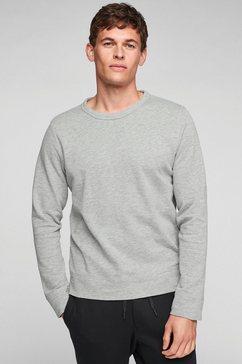s.oliver sweatshirt met een klein merklabel grijs