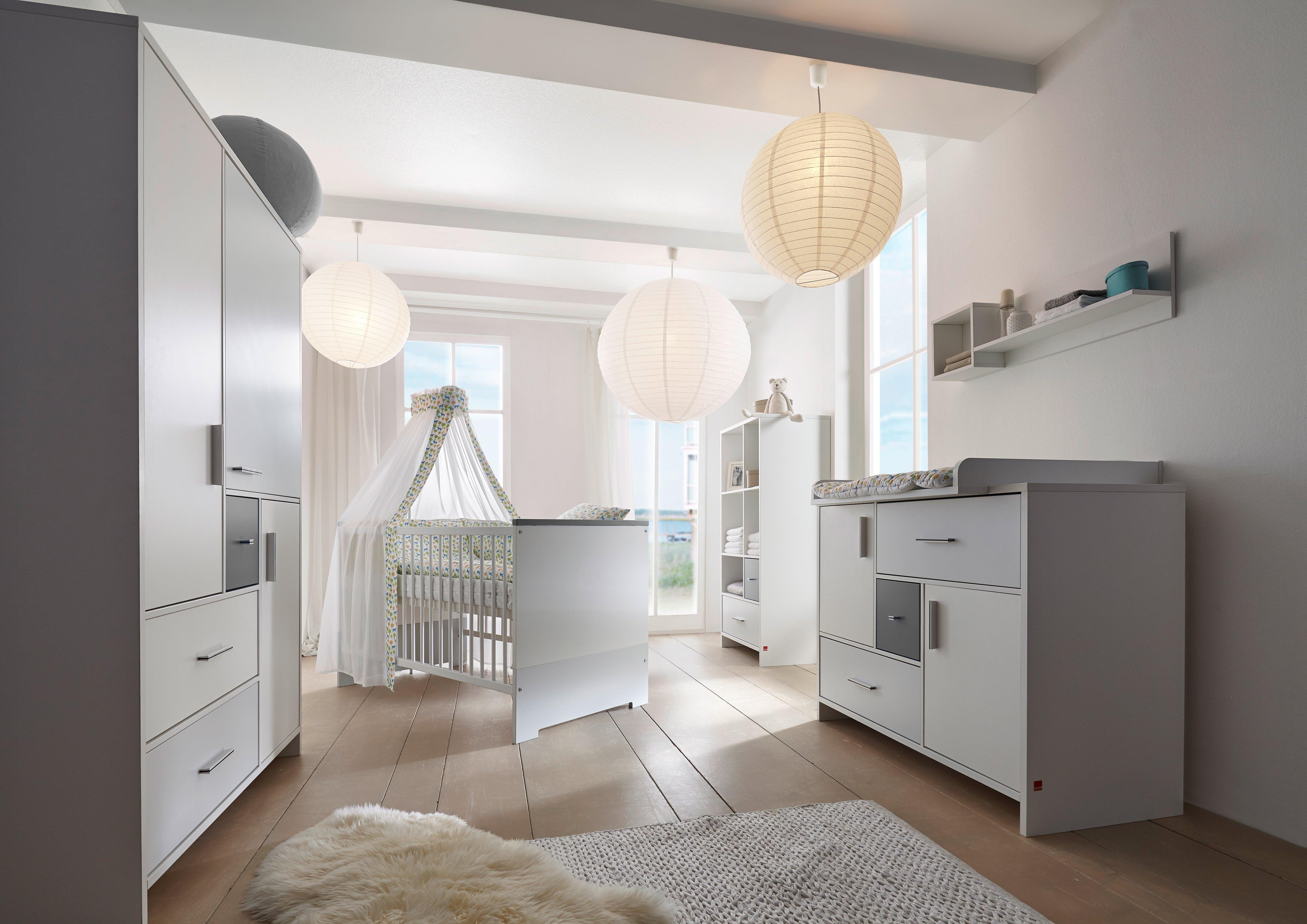 Schardt complete babykamerset Candy grey Made in Germany; met kinderbed, kast en commode (set, 3 stuks) goedkoop op otto.nl kopen