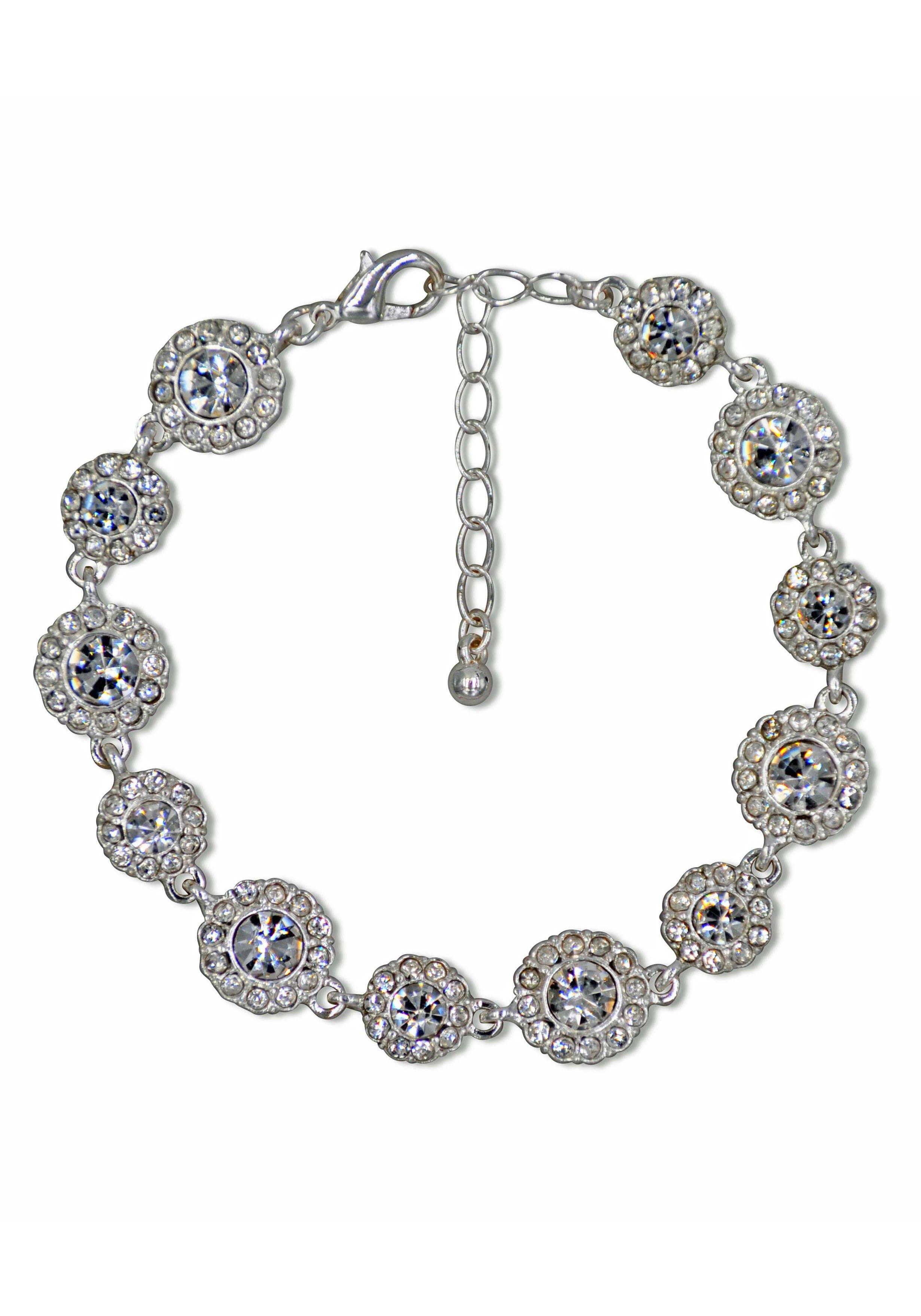 J.Jayz armband Glinsterend bloemenelement, glamoureus met kristal- en glassteentjes nu online bestellen