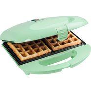 bestron wafelijzer sweet dreams met antiaanbaklaag, retrodesign, voor belgische wafels, mintgroen groen