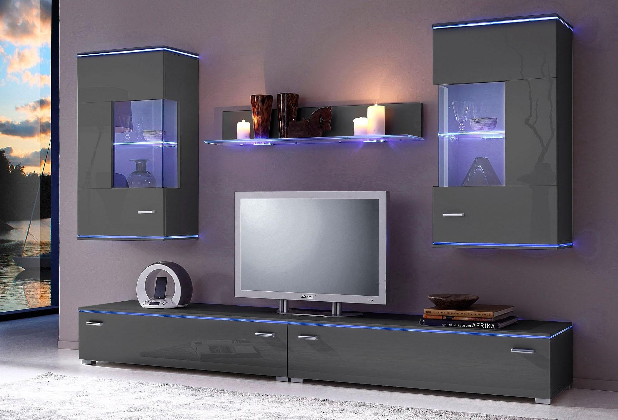 wandmeubel 5 delige set online shoppen otto. Black Bedroom Furniture Sets. Home Design Ideas
