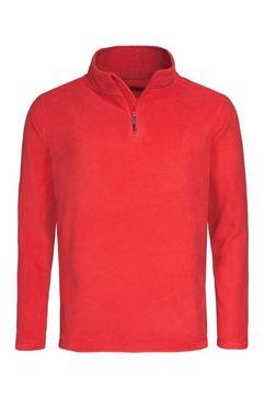 stedman schipperstrui outdoor fleece pullover met opstaande kraag rood