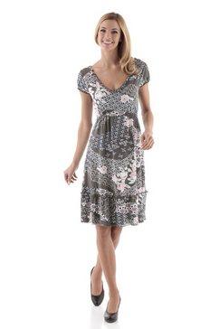 Jersey-jurk met rucheverwerking