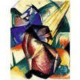 artland artprint twee paarden rood en blauw. 1912 in vele afmetingen  productsoorten - artprint van aluminium - artprint voor buiten, artprint op linnen, poster, muursticker - wandfolie ook geschikt voor de badkamer (1 stuk) multicolor