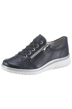 semler sneakers met sleehak lena met rits aan de buitenkant blauw