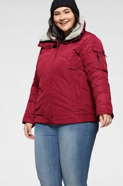 stoy gewatteerde jas rood