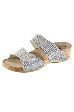 slippers schimer croco zilver