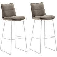 mca furniture barkruk »hampton« (set van 2 stuks) bruin