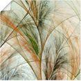 artland artprint fractaal gras iv in vele afmetingen  productsoorten - artprint van aluminium - artprint voor buiten, artprint op linnen, poster, muursticker - wandfolie ook geschikt voor de badkamer (1 stuk) beige