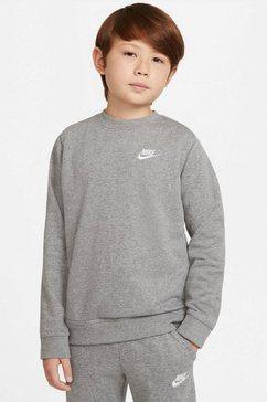 nike sweatshirt »nike sportswear big kids' french terry crew« grijs